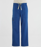 Scrub Med Mens Drawstring Scrub Pants Skipper Blue