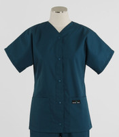 Scrub Med Womens Solid Baseball Scrub Top Spruce