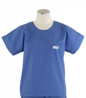 Scrub Med Womens Solid Scrub Top Bimini Blue