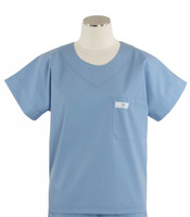 Scrub Med Womens Solid Scrub Top Celestial Blue
