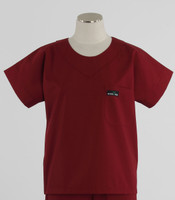 Scrub Med Womens Solid Scrub Top Currant