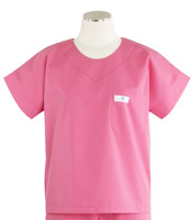 Scrub Med Womens Solid Scrub Top Mesa Rose