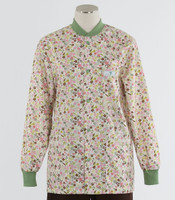 Scrub Med Womens Print Crew Neck Lab Jacket Frolic