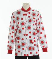 Scrub Med Womens Print Crew Neck Lab Jacket Ladybug Paradise