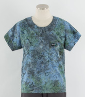 Scrub Med Womens Print Scrub Top Aster Bloom
