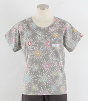 Scrub Med Womens Print Scrub Top City Lights