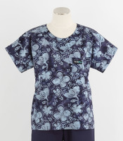 Scrub Med Womens Print Scrub Top Dogwood