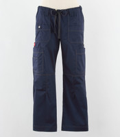 Dickies Gen Flex Womens Cargo Scrub Pants Navy - Petite