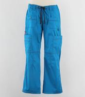 Dickies Gen Flex Womens Cargo Scrub Pants Riviera Blue - Petite