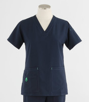 Carhartt Womens Cross-Flex V-Neck Scrub Top Navy