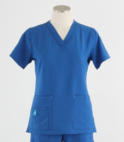 Carhartt Womens Cross-Flex V-Neck Scrub Top Royal