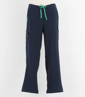 Carhartt Womens Cross Flex Boot Cut Scrub Pants Navy - Petite
