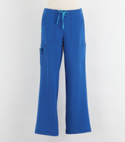 Carhartt Womens Cross Flex Boot Cut Scrub Pants Royal - Petite