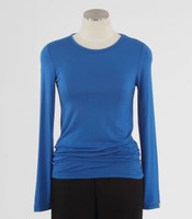 WonderWink Womens Silky Long Sleeve Tee Royal