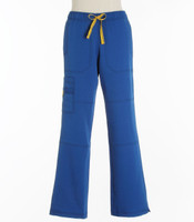 WonderWink Womens 4-Stretch Sporty Cargo Scrub Pants Royal - Petite