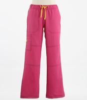 WonderWink Womens 4-Stretch Sporty Cargo Scrub Pants Very Berry - Petite