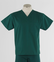 Maevn Unisex Scrub Top Hunter Green