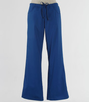 Maevn Womens Fit Drawstring w/ Back Elastic Flare Leg Scrub Pant Royal - Tall