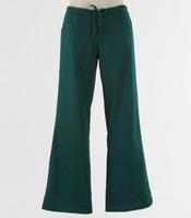 Maevn Womens Fit Drawstring w/ Back Elastic Flare Leg Scrub Pant Hunter Green - Petite