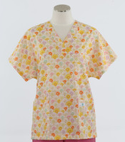 Scrub Med Womens Print V-Poc Scrub Top Rapunzel - Original Price $33 - ALL SALES FINAL!