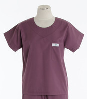Scrub Med Womens Solid Scrub Top Mauve (ScrubLite) - Original Price $28 - ALL SALES FINAL!