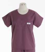 Scrub Med Womens Solid Scrub Top Mauve (ScrubLite) - Original Price $28 - ALL SALES FINAL!