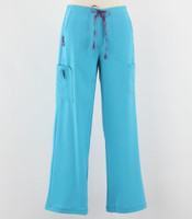 Carhartt Womens Cross Flex Boot Cut Scrub Pants Cyan - Petite