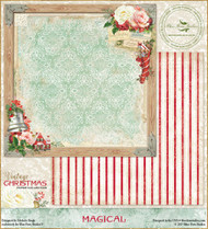 Blue Fern Vintage Christmas Paper Magical