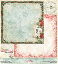 Blue Fern Vintage Christmas Paper Noel