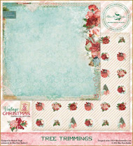 Blue Fern Vintage 2 Christmas Paper Tree Trimmings