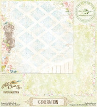 Blue Fern Attic Charm Paper Generation
