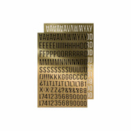 Tim Holtz Idealogy Metallic Stickers Alpha Gold