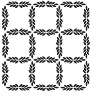Crafters Workshop Julie Balzer  Leaf Grid Template 6x6