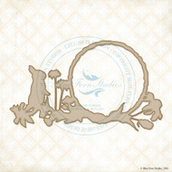 Blue Fern Studio Chipboard Spring Bunny Frame