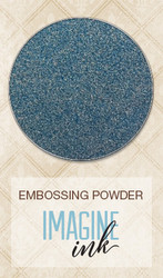 HAPPY ACCIDENT Blue Fern Studio Imagine Ink Embossing Powder Stormy Skies