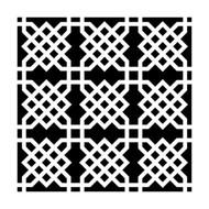 Crafters Workshop Ronda Palazzari 6x6 Stencil Knot Garden