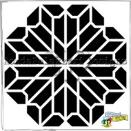 Crafters Workshop Ronda Palazzari 6x6 Stencil Chrysanthemum