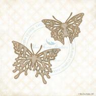 CHIPBOARD GARDEN LIFE Blue Fern Studio Vintage Butterflies
