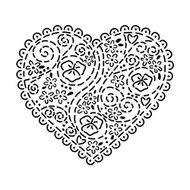 Crafters Workshop RP 12x12 Stencil Embroidered Heart
