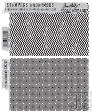 Tim Holtz Cling Stamp Set ZigZag and Diamonds