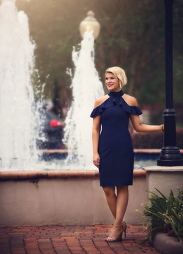 """TRIANA DRESS NAVY"""