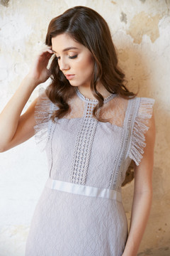 ABBY DRESS-SILVER GREY COMING SOON