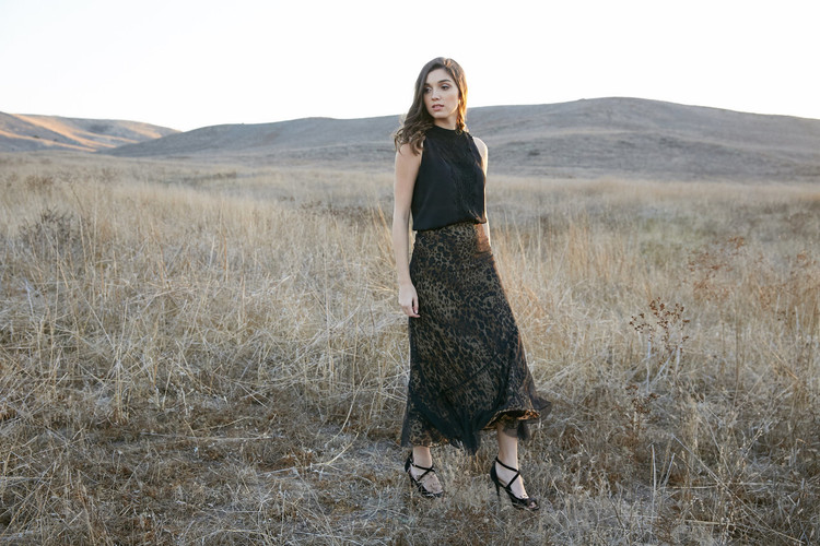 """ANGELINA  ANIMAL PRINT MAXI SKIRT"""
