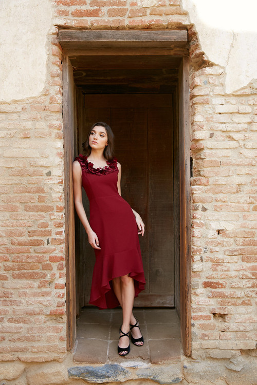 ANASTACIA DRESS-BURGUNDY COMING SOON
