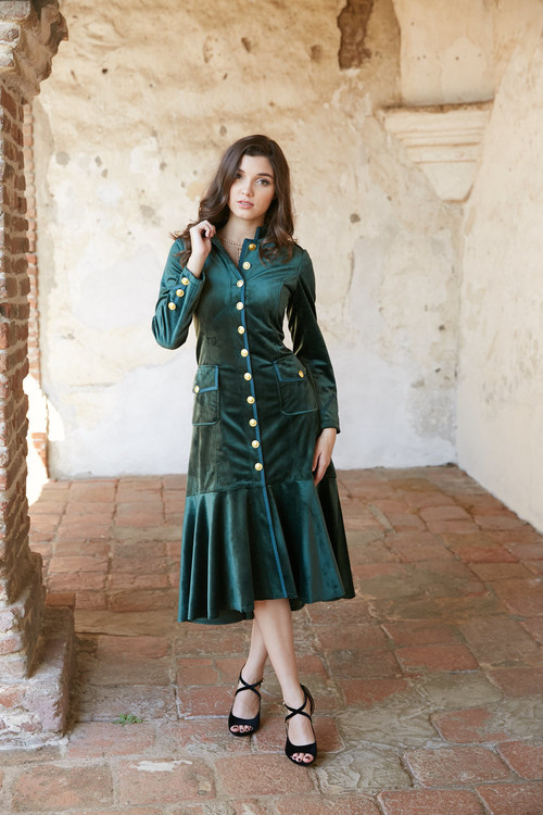 AMELIE SERGEANT COAT EMERALD COMING SOON