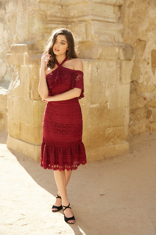 AURORA DRESS-BURGUNDY COMING SOON