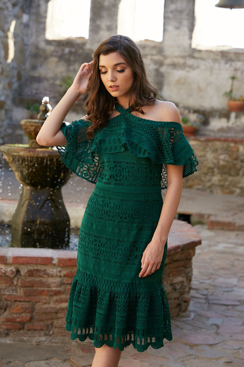 AURORA DRESS-EMERALD COMING SOON