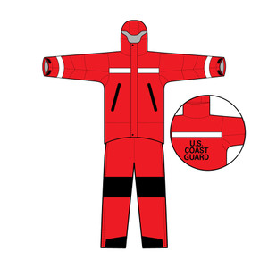 SAR Life Foul Weather Gear, Jacket & Pants with USCG Stencil