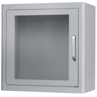 Cabinet for AED Storage under Indoor Environment with Acoustic Alarm