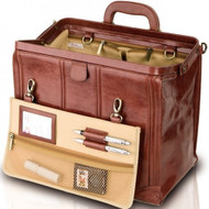 Elite Traditional Leather Doctor's Bag (Brown)